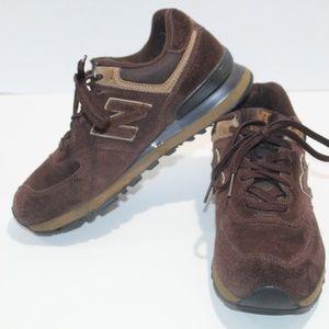 New Balance 574 Sneakers Size 9 Brown Tan Run Walk